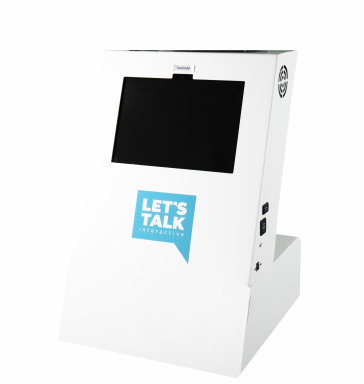 A1 Tabletop Telehealth Kiosk no drawer - no PTZ