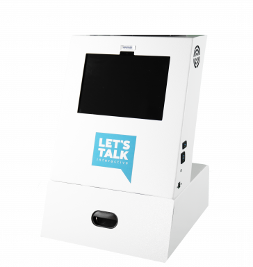 A1 Tabletop Telehealth Kiosk with locking drawer - no PTZ