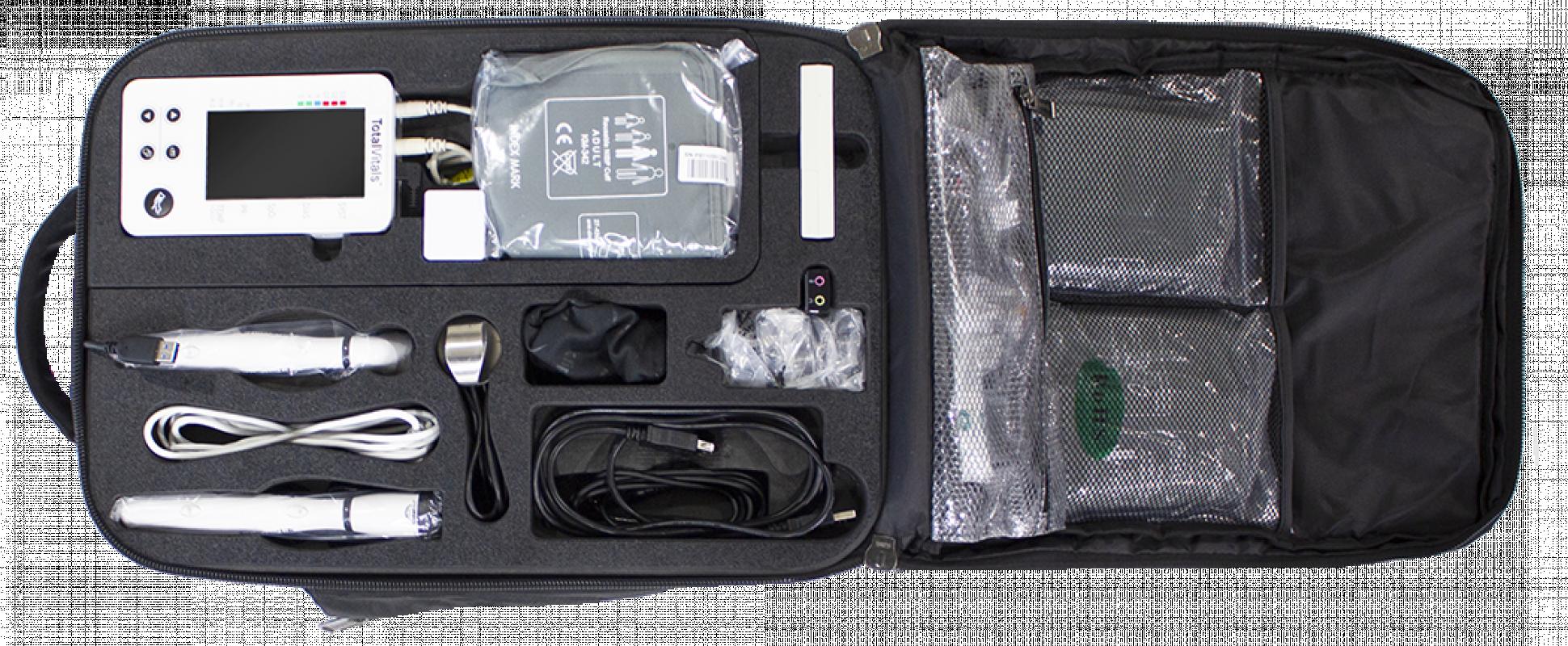 Totalexam backpack inside