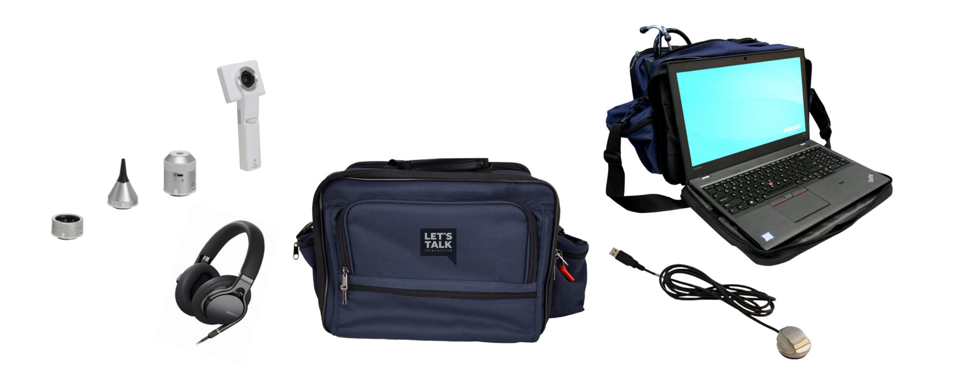 Headphone or bag portable holder Laptop holder or bag