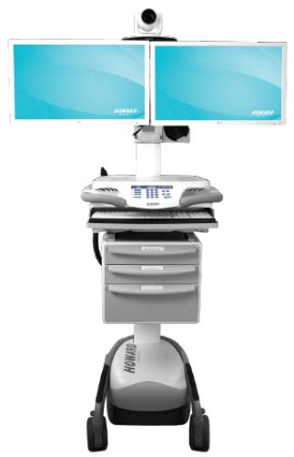 LTI HI TeleCare Telehealth  Cart Dual Monitor