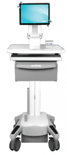 LTI Hi TeleCore Telehealth Tablet Cart