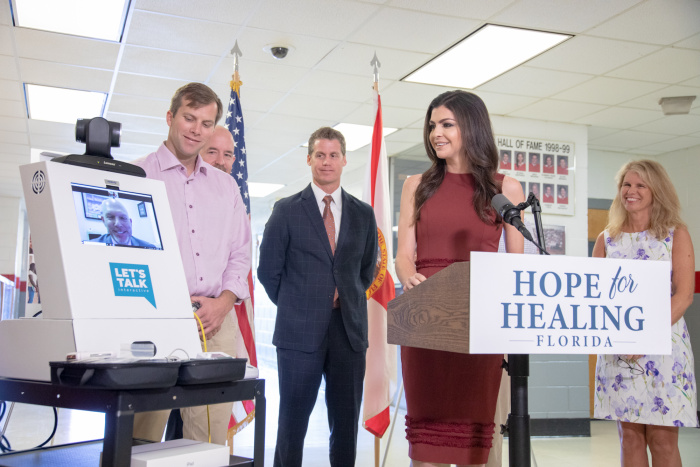 Florida first lady letstalkinteractive telehealth schools 2