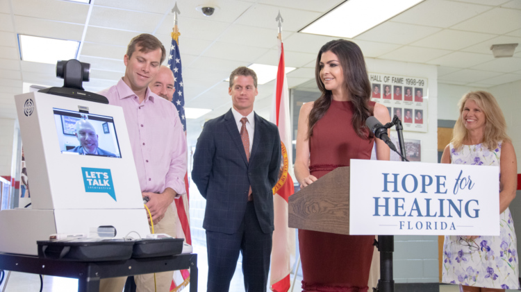 Florida first lady letstalkinteractive telehealth schools 2